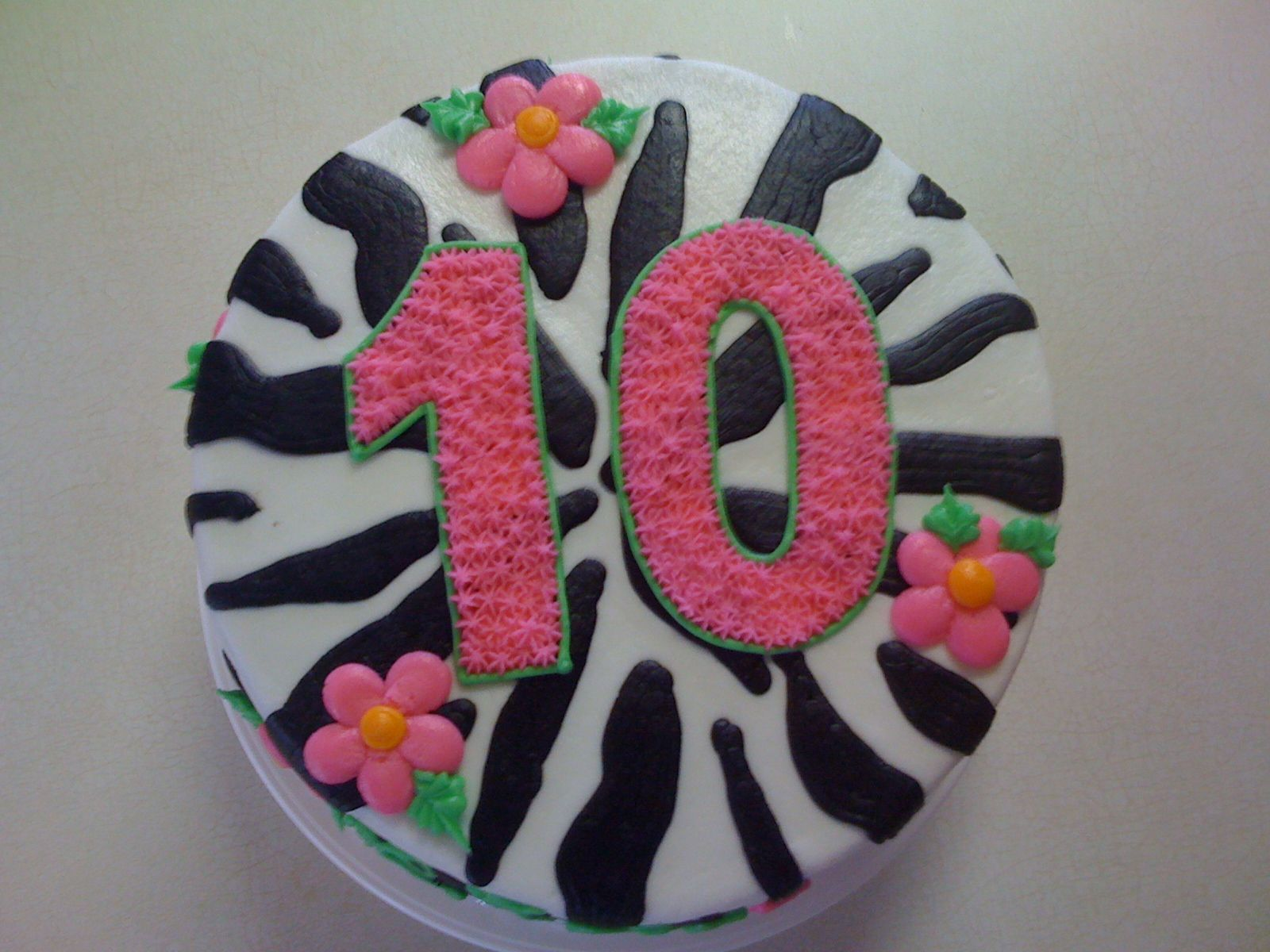 Th Birthday Cake Zebra Birthday Pinterest Th Birthday - 10th birthday cake