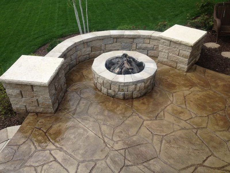 patio stamped concrete patio design ideas pictures remodel and decor - Concrete Design Ideas