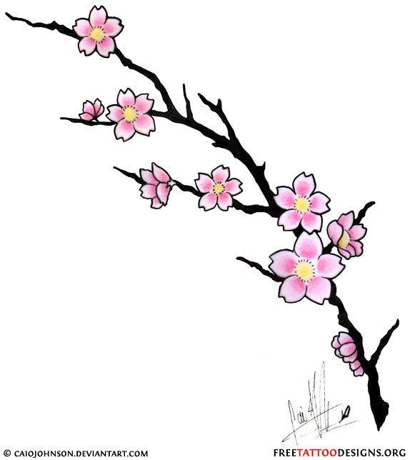Cherry Blossom Tattoo Designs Cherry Blossom Drawing Flower Drawing Flower Drawing Design