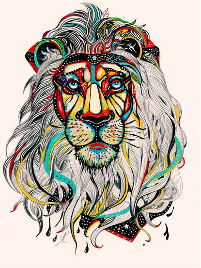 d635cc378 SO DOPE especially if this was in black and white. Great lion tattoo idea
