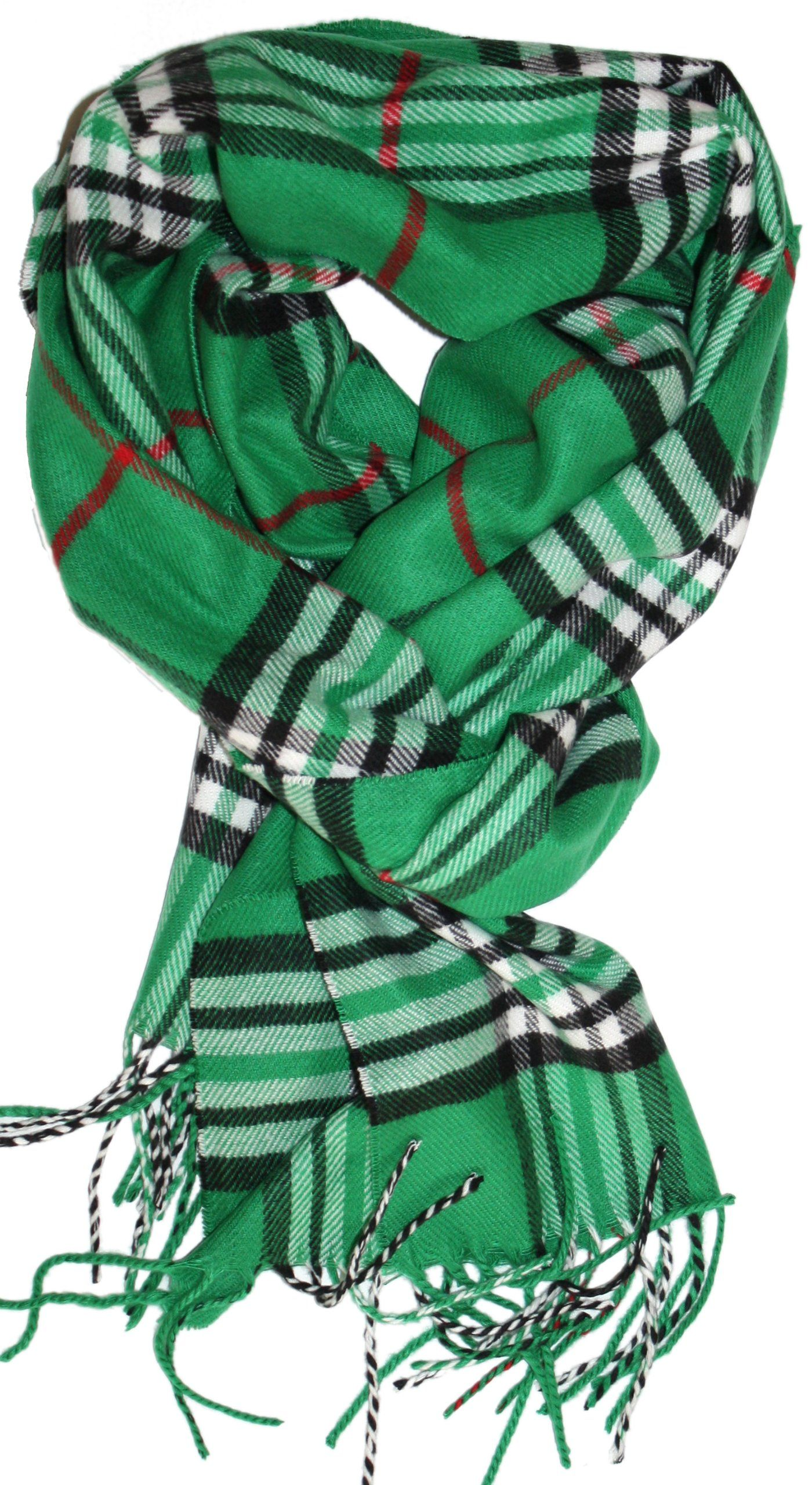 LibbySue-Classic Cashmere Feel Winter Scarf in Rich Plaids (Large Print Black) at Amazon Women's Clothing store: Fashion Scarves