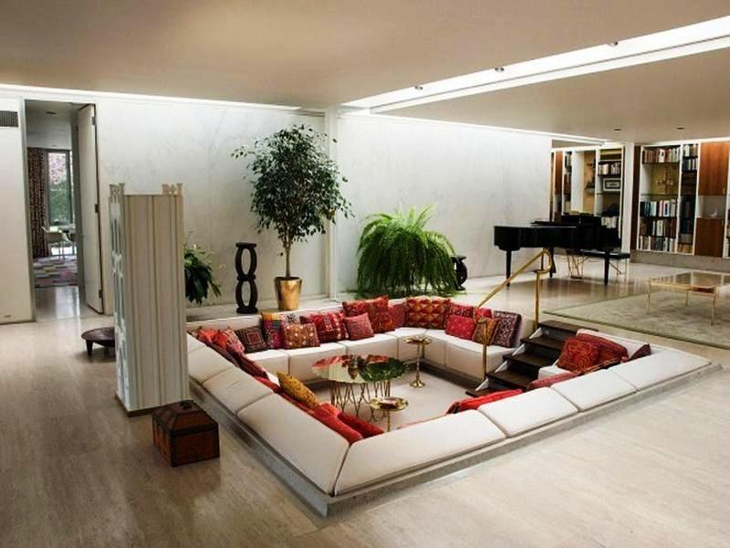 Sunken Living Room Living Room Furniture Arrangement Apartment Decor Living Room Sets