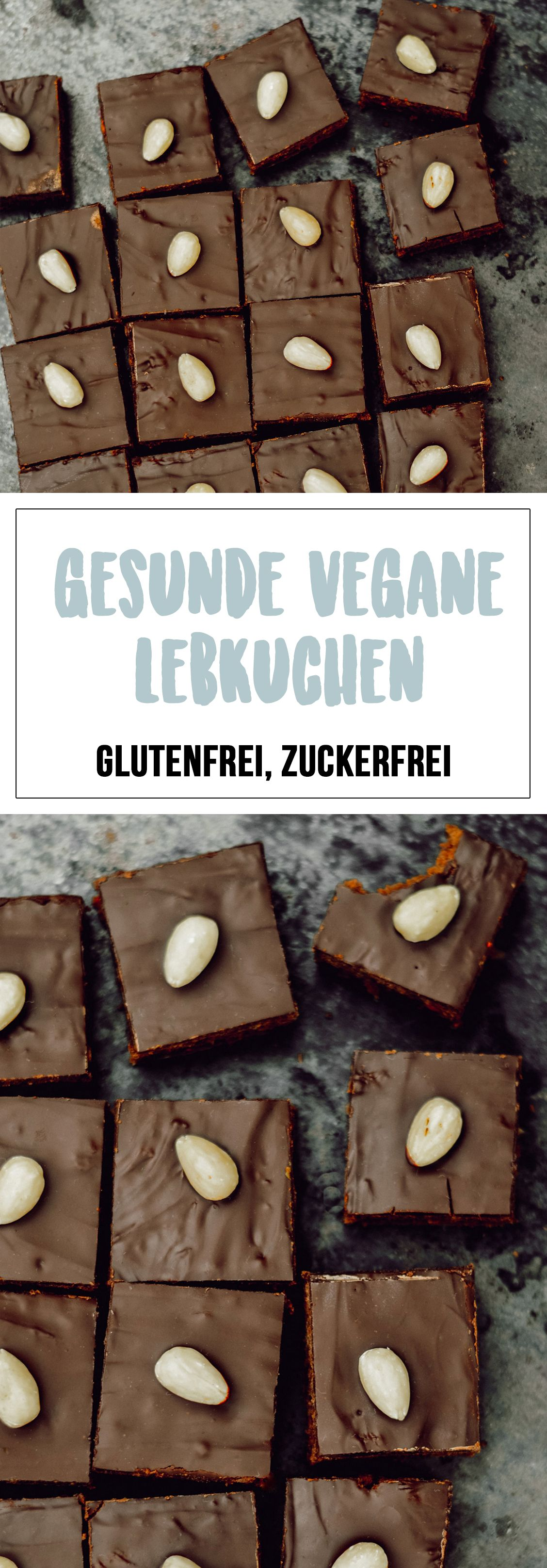Gesunde Lebkuchenschnitten (vegan, glutenfrei, zuckerfrei)