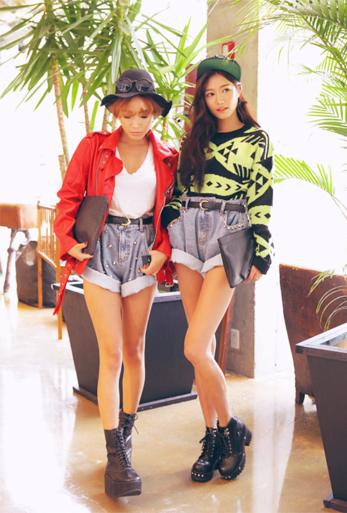 """Their oversize shorts are cute. I'm planning to """"diy"""" some but without the studs."""