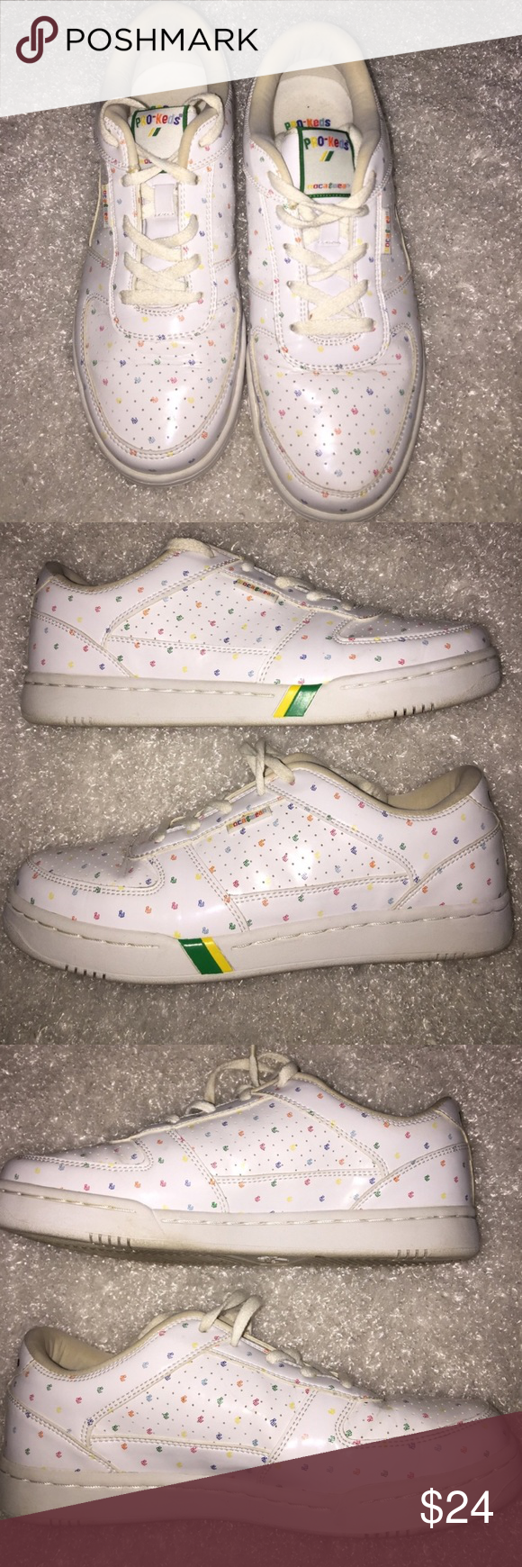 Pro Keds Primary Color Rainbow Sneakers