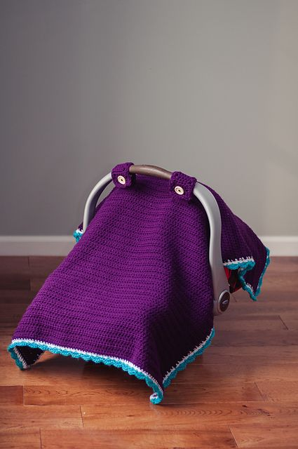 Car Seat Canopy Tent Afghan Cover Pattern By Skinny Kitty Crochet
