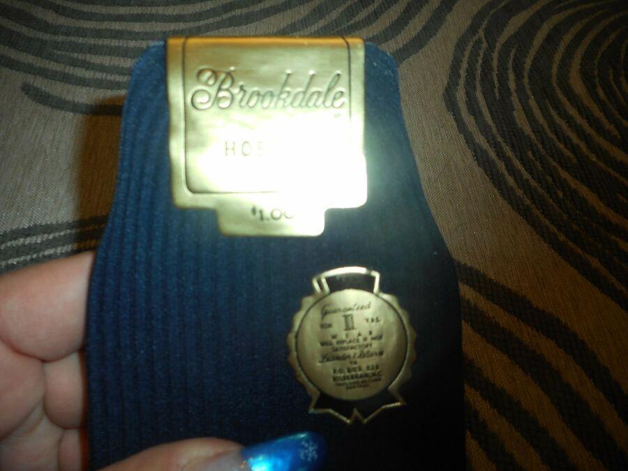 Vtg New Brookdale Hosiery Socks For Men Size 10-13 Blue