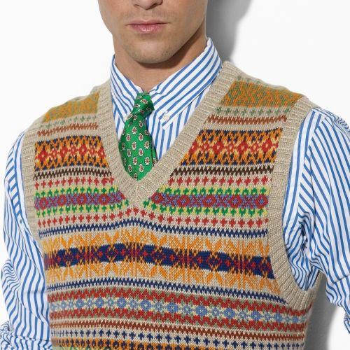 polo-ralph-lauren-brown-fair-isle-sweater-vest-product-2-12296370 ...
