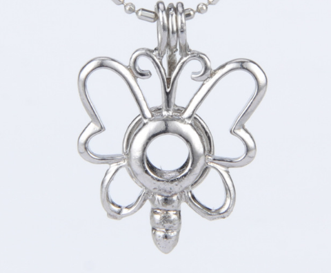 Silver plated pearl butterfly cage pendants holds 5 7 mm pearls silver plated pearl butterfly cage pendants holds 5 7 mm pearls mozeypictures Images