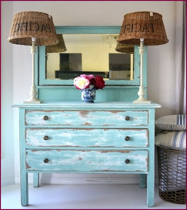 Blue Distressed Wood Furniture - Blue Distressed Wood Furniture Distressed, Old And Aged Interior