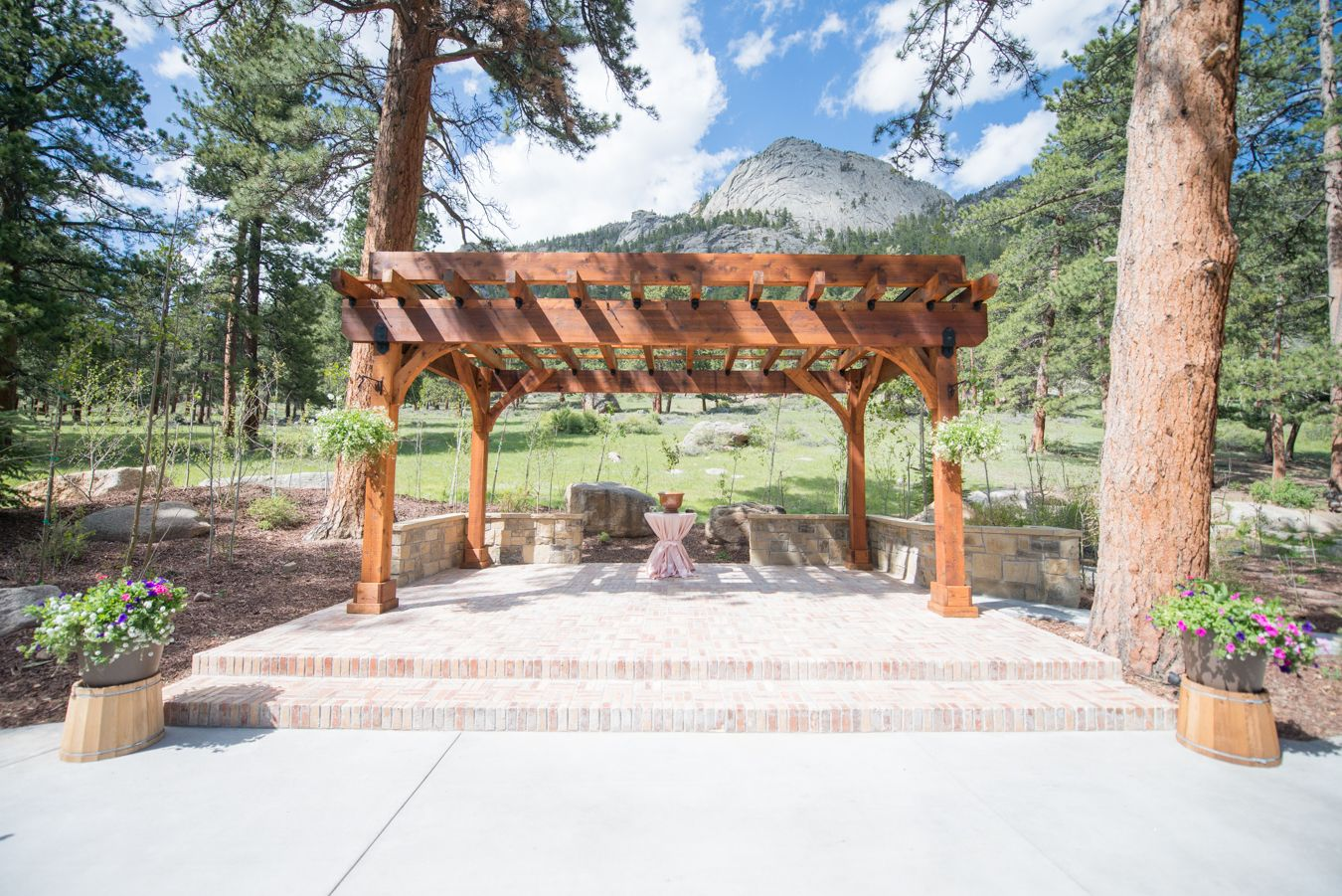 Della Terra Mountain Chateau Wedding Trellis Outdoor Ceremony