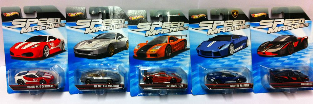 Hot Wheels Speed Machines Fahrzeugmarke Ferrari Mclaren