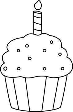And Birthday Free Art Cake White Black Clip