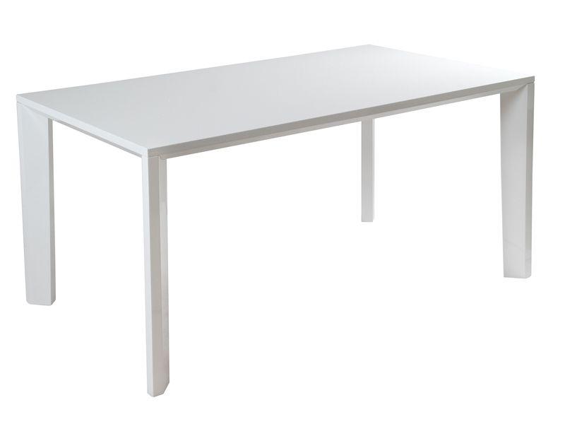 Mesa de comedor blanca lacada