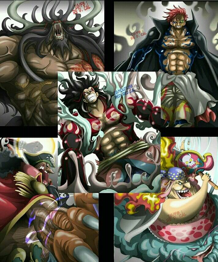The Five Emperors One Piece Manga Anime One Piece Anime