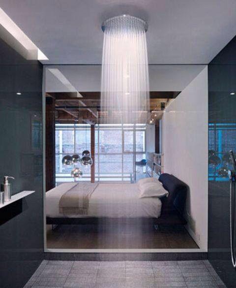 Shower in the bedroom so hot/ Dusche im Schlafzimmer einfach heiß ...