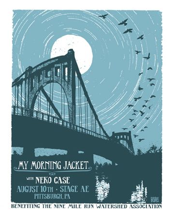 artistic indie music gig Posters | My Morning Jacket with neko case poster for the 2011 Pittsburgh show is now ...