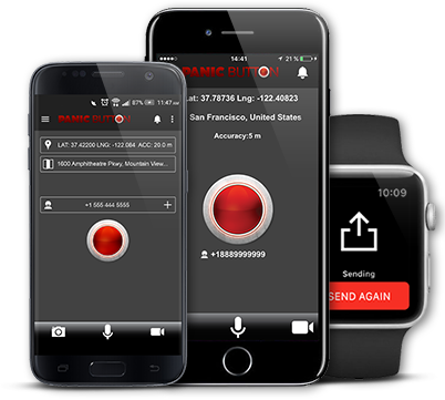 Red Panic Button Is A Safety App For Emergency Situations A Great Sos Call App That Works For Ios And Android Whenever You Fell Safety Apps Sos Panic Button