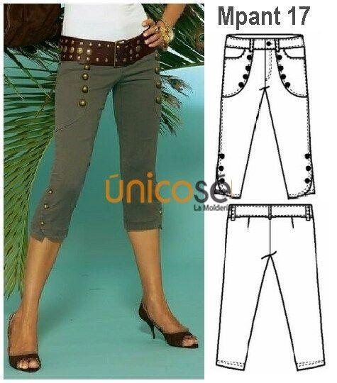 Moldes Unicose Pantalones Pitillo Mujer Pantalones Pescadores Pantalones