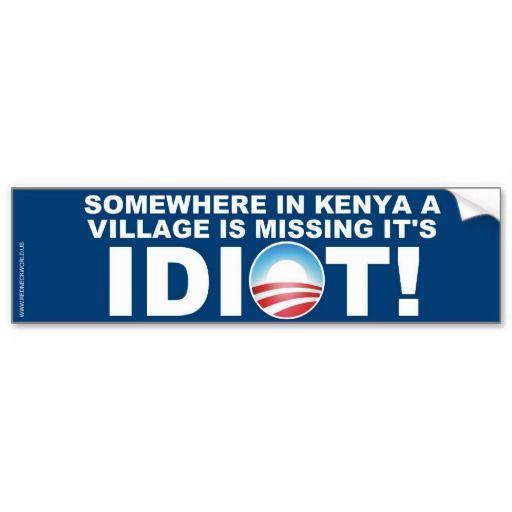 Kenyan village missing its idiot bumper sticker
