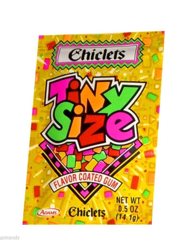 Nostalgic Sweets - CHICLETS GUM - Tiny Size FLAVORED GUM SQUARES ...
