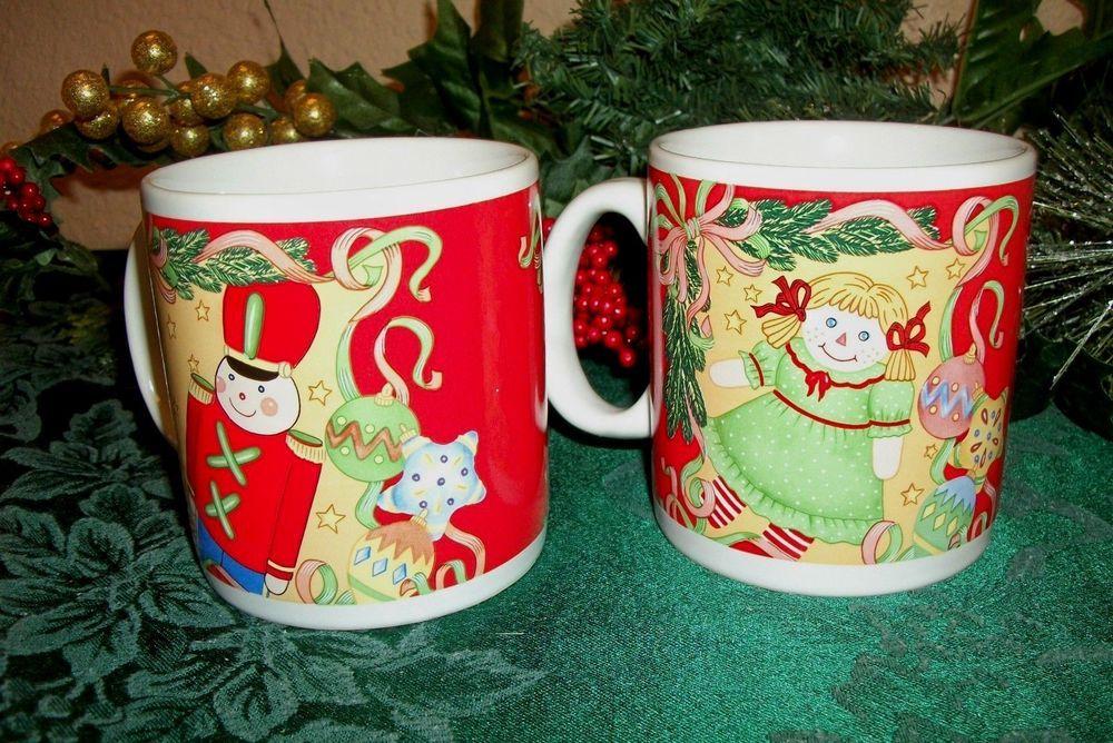 Christmas Mugs Two Ceramic Nutcracker Soldier and Doll Cup VTG Sakura Tableware #Sakura & Christmas Mugs Two Ceramic Nutcracker Soldier and Doll Cup VTG ...