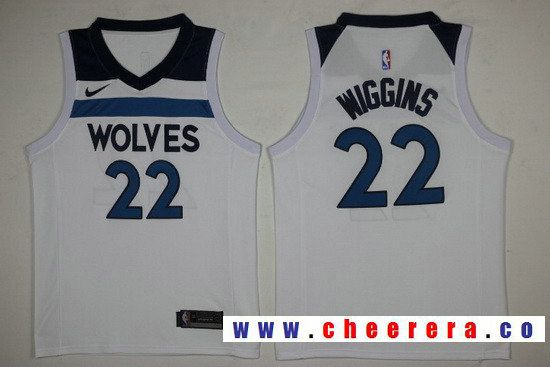 Men s Minnesota Timberwolves  22 Andrew Wiggins White 2017-2018 Nike  Swingman Stitched NBA Jersey c37c40437