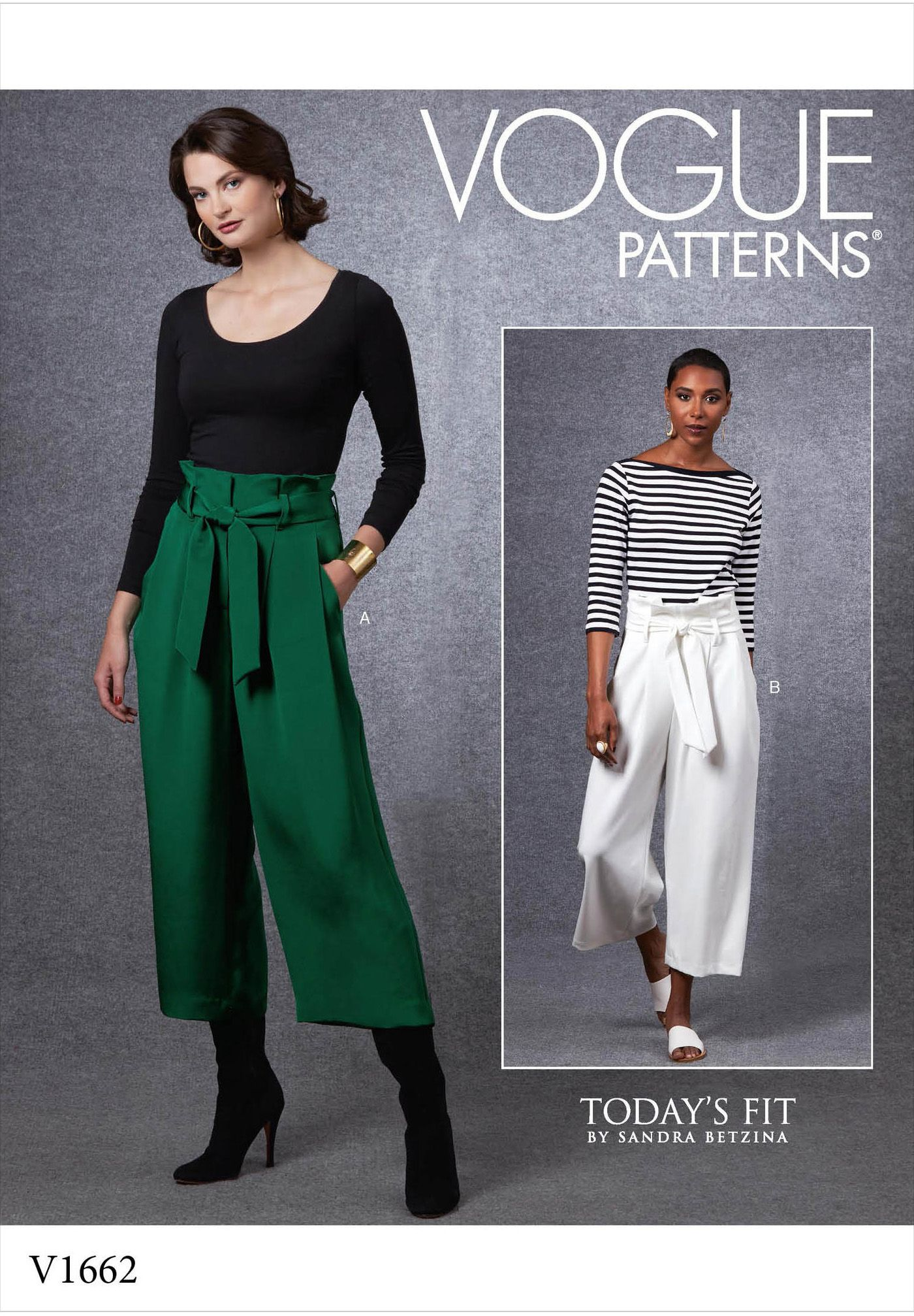 Vogue 1662 Pants And Belt V1662 Very Loose Fitting Pants Have