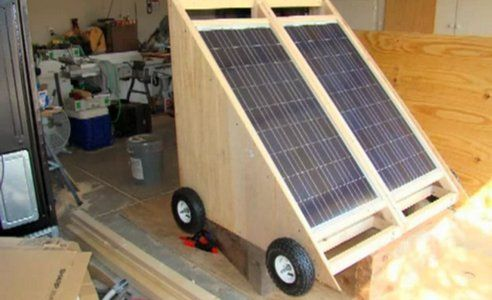 How To Build A Solar Generator On Wheels Video Portable Solar Generator Solar Generator Solar Panels