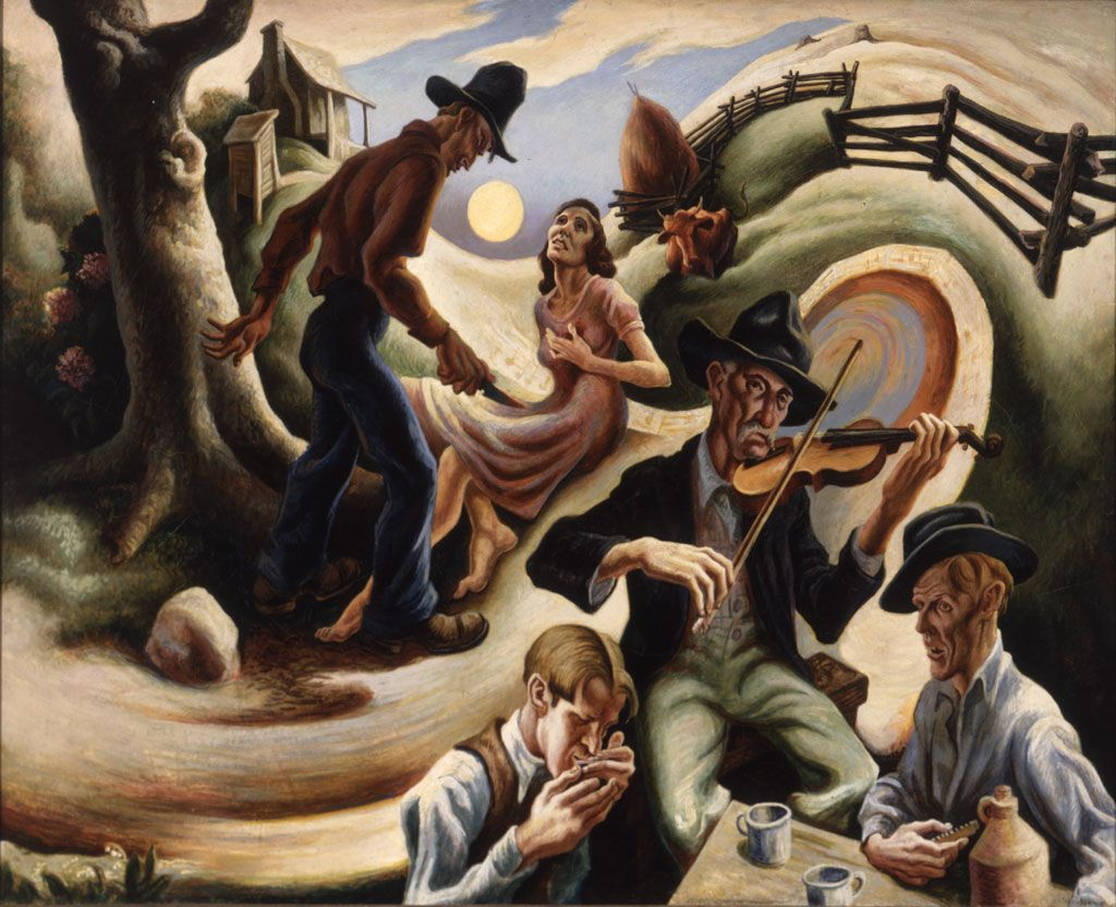 Google Image Result For Http Www Siblovia Com Blog Wp Content Uploads 2010 03 Thomas Hart Benton Thomas Hart Benton Paintings Art Thomas