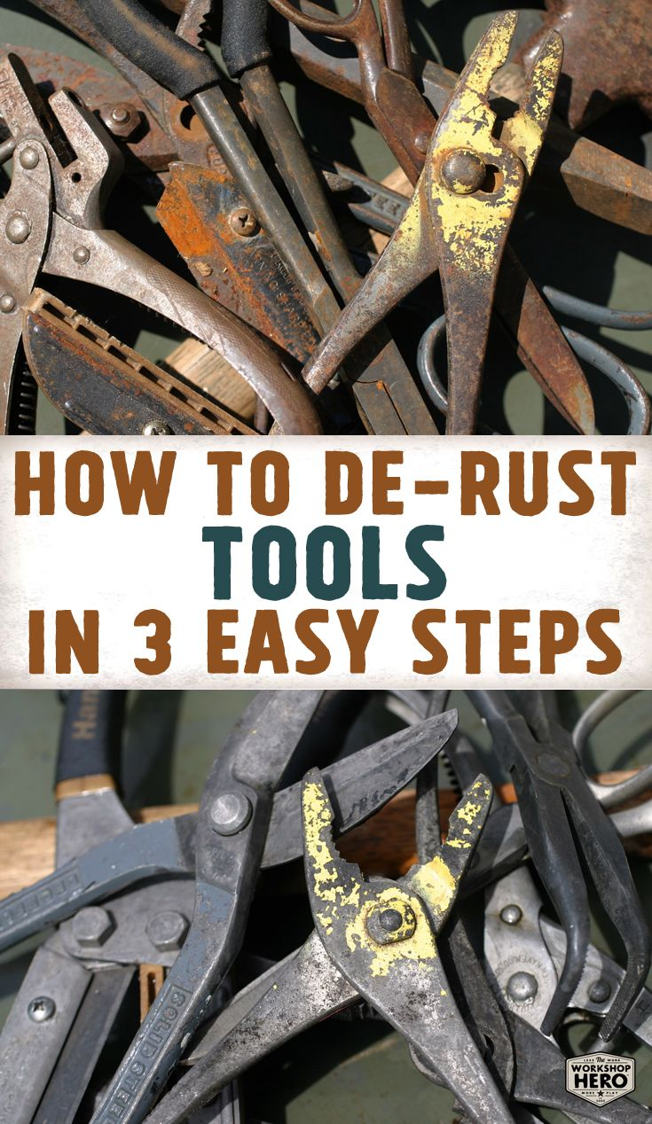 Remove Rust From Tools Clean Safe And Easy With Metal Rescue Rust