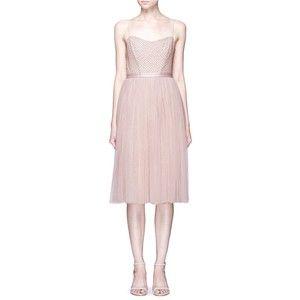 Needle & Thread 'Coppelia Ballet' lattice embellished tulle dress