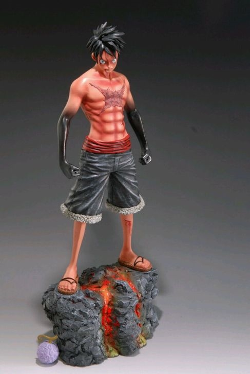 255.00$  Buy now - http://aliaub.worldwells.pw/go.php?t=32738329790 - MODEL FANS IN-STOCK One Piece 30cm Battle Damage anger Luffy gk resin made Figure toy For Collection 255.00$