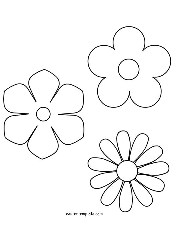 Spring-Flower-Template | Stencils | Pinterest | Flower Template