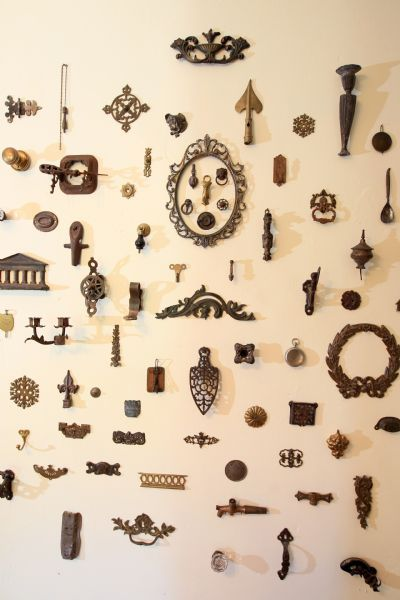 collection of metal objects. Photo by David Carson, St. Louis.