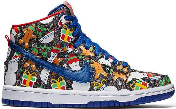 f954786cb55 Nike SB Dunk High Concepts Ugly Christmas Sweater 2017 (GS) (affiliate link)