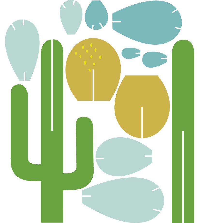beci orpin forever cactus template paper crafts plants home