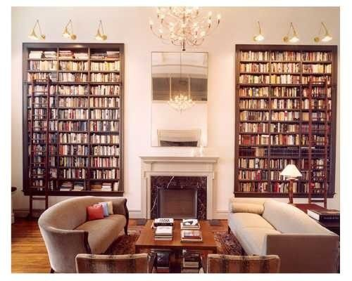 Wonder how hard it is to construct bookshelves within the walls?
