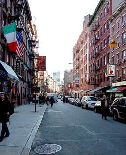 Little Italy, NYC    Description: Concentrated on Manhattan's Mulberry Street between Broome and Canal, this authentic Italian neighborhood-turned-tourist strip is packed with Italian restaurants, souvenir shops, and street vendors.
