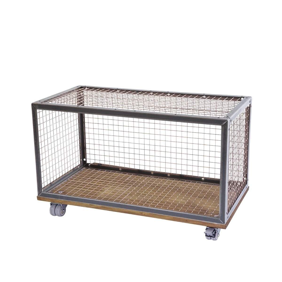 Wire Retail Display Box with Wheels | Modular Display Units ...