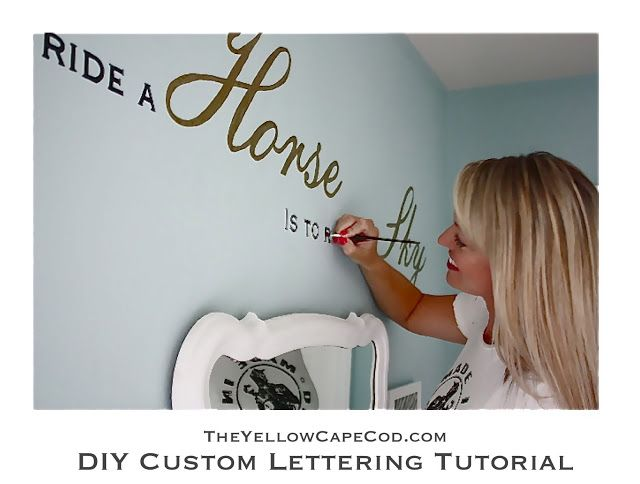 diy custom wall lettering tutorial use a projector to trace words of your choice on the wall