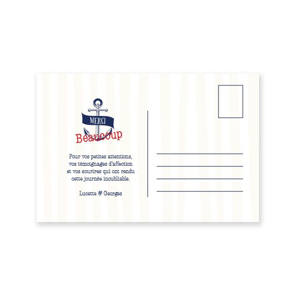 Carte postale de Remerciements - Marin d'eau douce - La Papette (avec images) | Carte postale ...