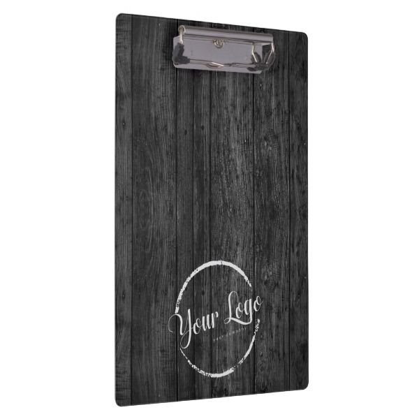 Custom logo on dark woodgrain clipboard Custom logos and Clipboards - Sample Address Book Template