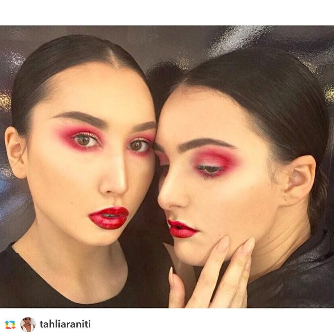 #Repost @tahliaraniti Don't get me started on how much I Adore a red eye/lip combo! #crushing hard ❤️