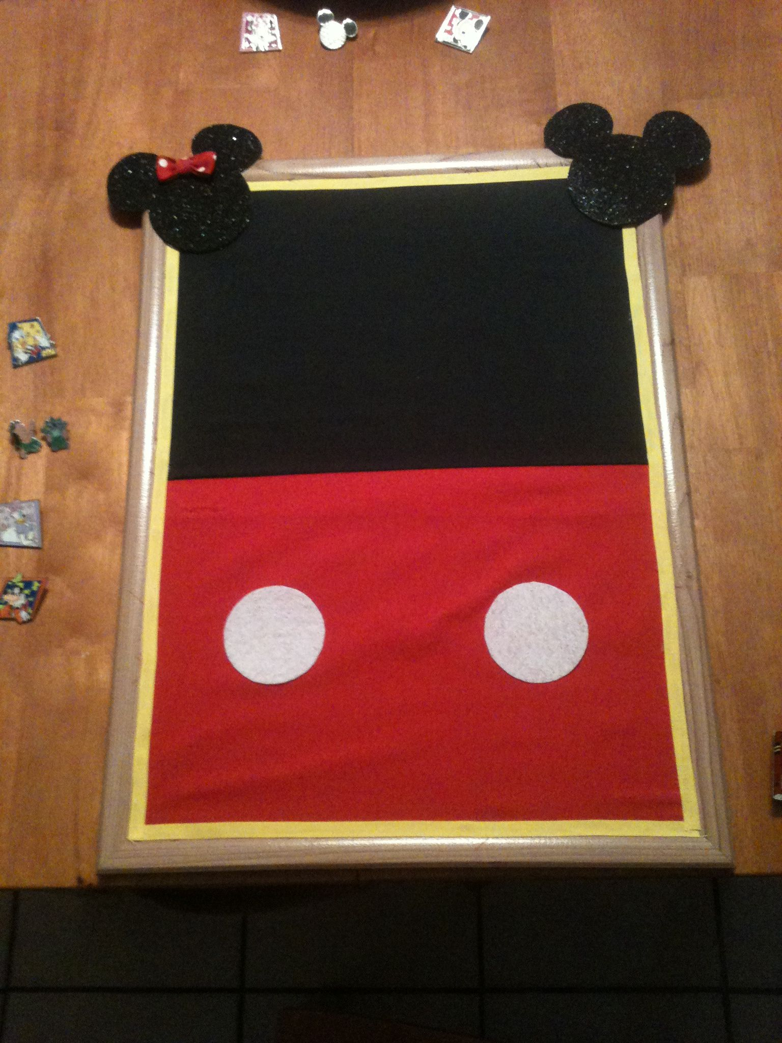 Mickey Mouse Bulletin Board For Your Disney Pins