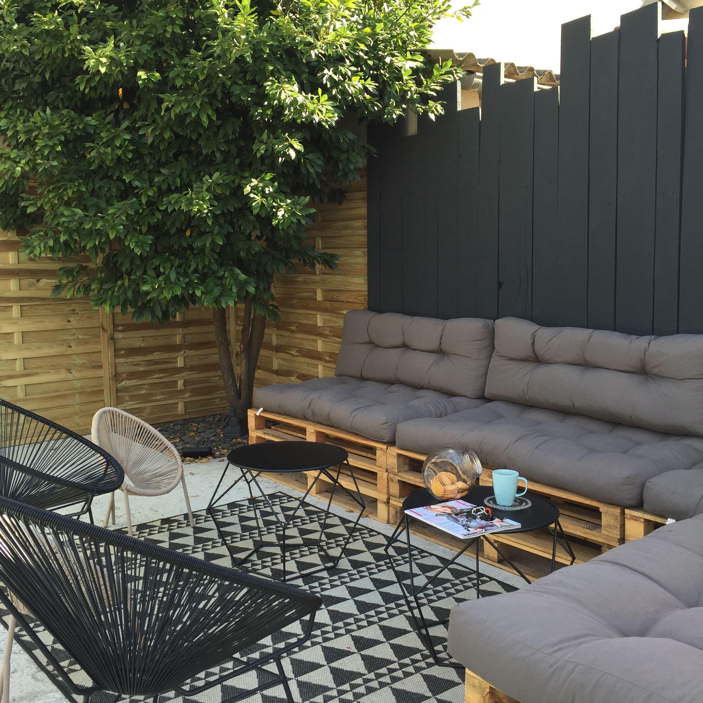 Création DIY du salon de jardin à base de palettes | Tapis d ...