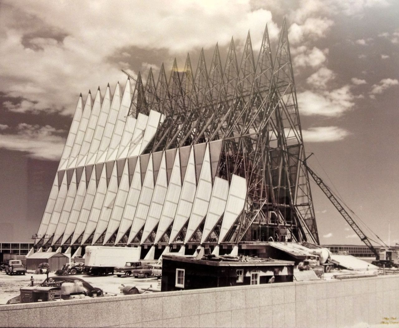 Construction on the U.S. Air Force Academy's iconic Cadet