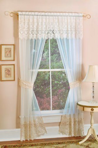 Achim Home Furnishings Lacey Panel And Valance 55 Inch By 84 Inch