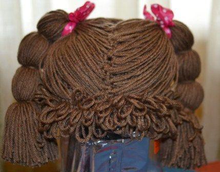 Crochet Cabbage Patch Hat Wig | Amigurumi und Puppen
