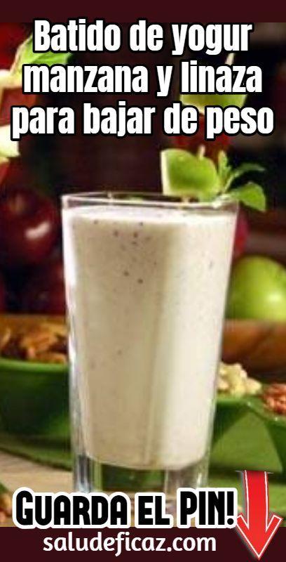 jugos naturales para bajar de peso con linaza con
